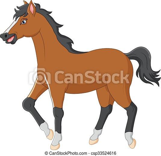 Hest cartoon hest vektor cartoon illustration - Clipart cheval ...