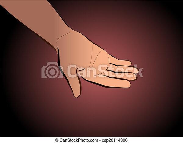 het bedelen, black , hand - csp20114306