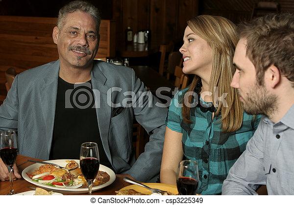 het dineren, drie, uit - csp3225349