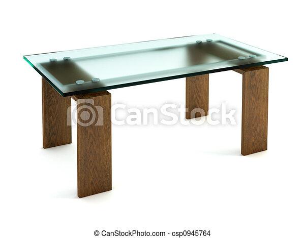 Het dineren moderne glas tafel vertolking moderne glas
