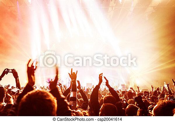 het genieten van, concert, menigte - csp20041614
