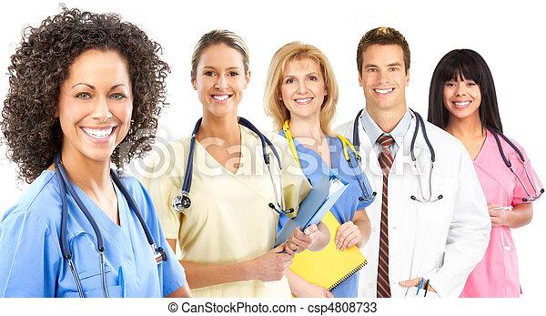 het glimlachen, medisch, verpleegkundige - csp4808733