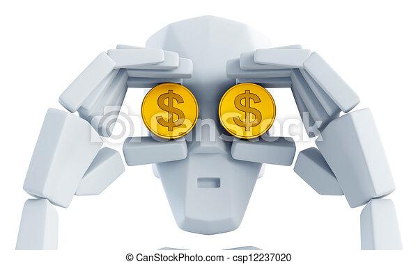 het kijken, geld - csp12237020