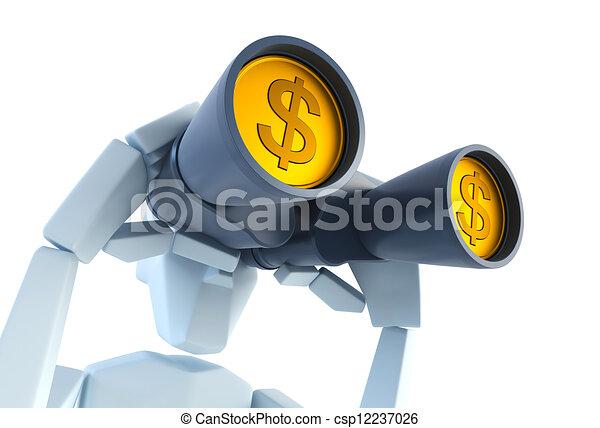 het kijken, geld - csp12237026