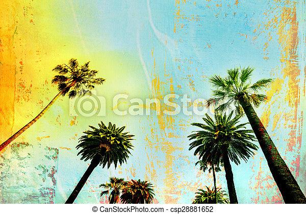 het kunstwerk, palmboom, californië - csp28881652