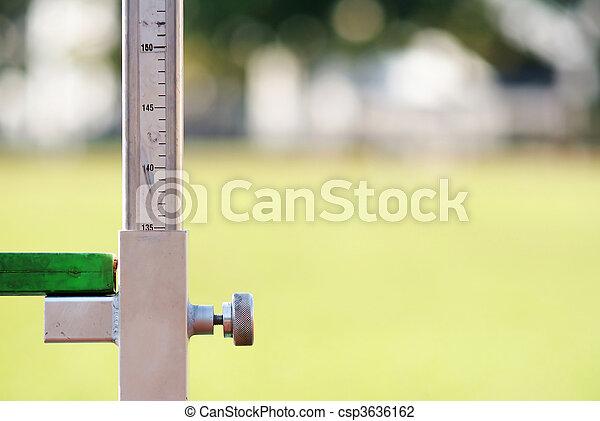 het meten, hoog, artletieksporten, sprong - csp3636162