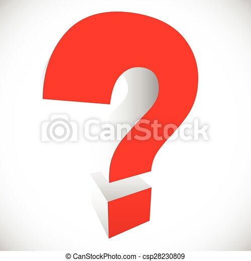 het oplossen, quiz, vraag, verwant, mark, het kijken, solution., grafiek, raadsel, concepts., vragen, probleem, rood, 3d - csp28230809