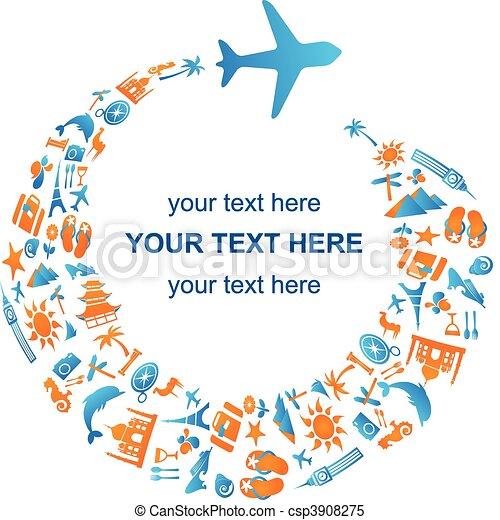 het reizen, lucht - csp3908275
