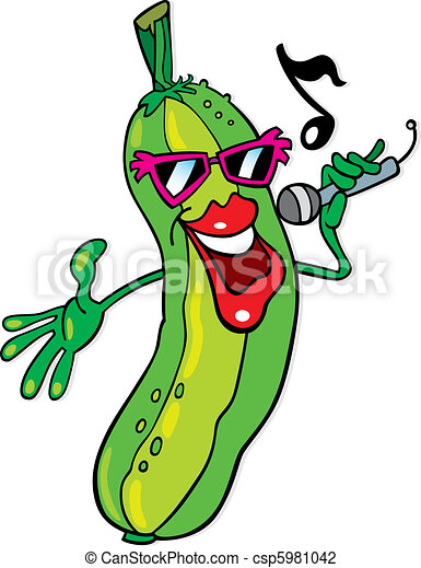 het zingen, komkommer - csp5981042