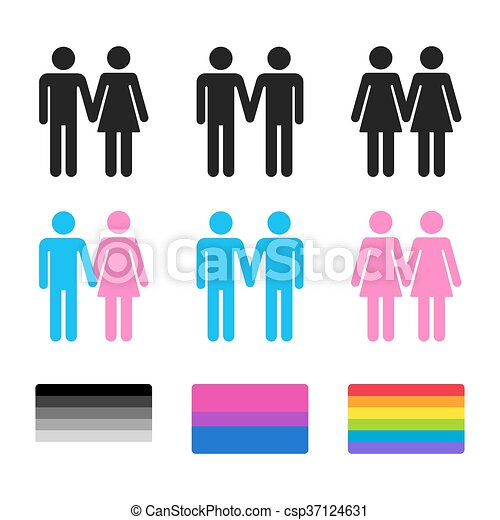 heterosexual and homosexual couples with flags heterosexual rh canstockphoto com gay clipart gray clip art