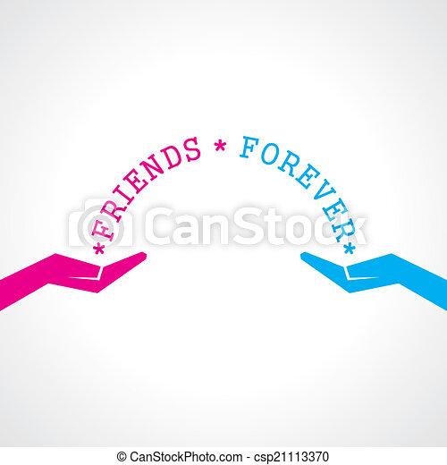 heureux, amitié, jour, carte, salutation - csp21113370
