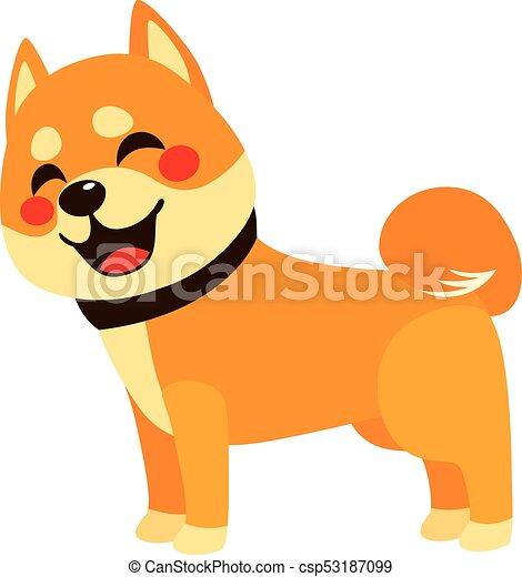 heureux, chien, vue côté - csp53187099