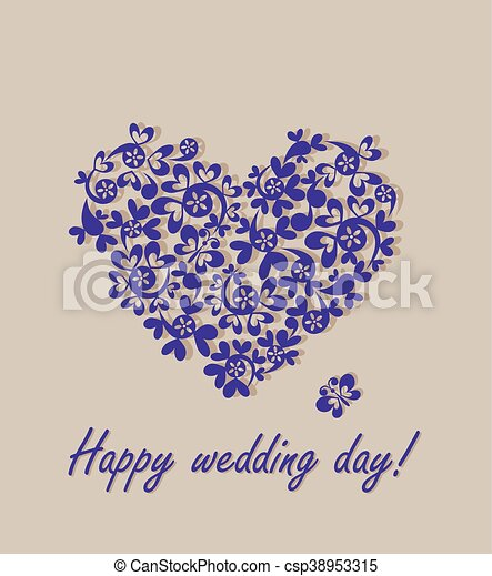 Heureux, Day!, Carte Voeux, Mariage