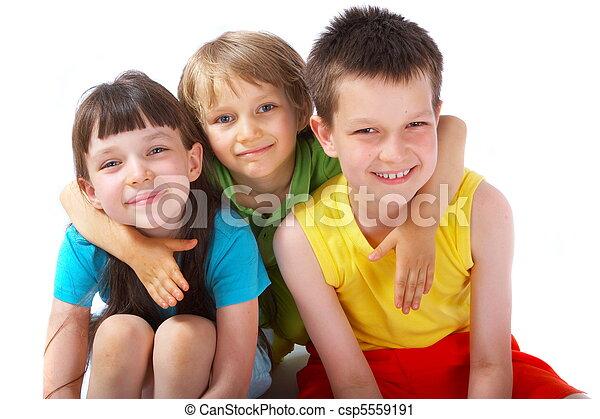 heureux, enfants - csp5559191