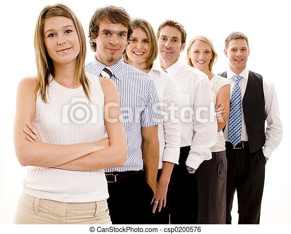 heureux, equipe affaires - csp0200576