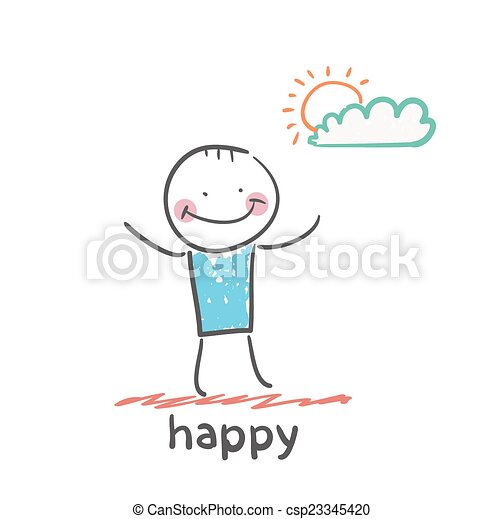 heureux - csp23345420
