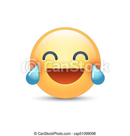 Heureux Rire Visage Smiley Larmes Joy Rire Pleurer Emoticon Dessin Animé Emoji