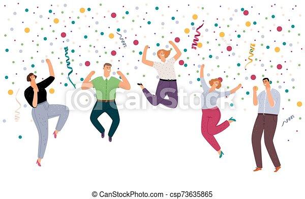 heureux, sauter personnes - csp73635865