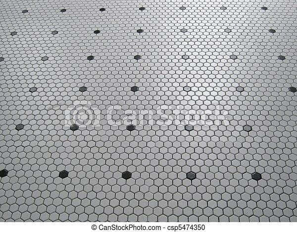 Hex Tile Floor Pattern Our Bathroom Floor Alternating Rows Of