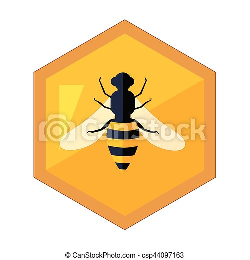 hexagon shape honeycomb with bee insect in center cartoon clip rh canstockphoto com honeycomb background clipart honeycomb clip art free