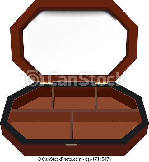 Hexagonal box jewelry box vectors illustration Search Clipart