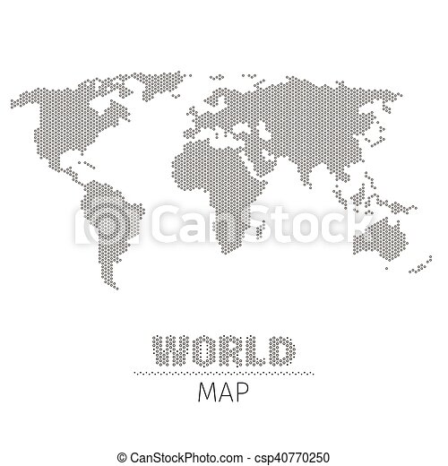Hexagonal dots world map on white background vector clipart hexagonal dots world map on white background vector illustration gumiabroncs Gallery