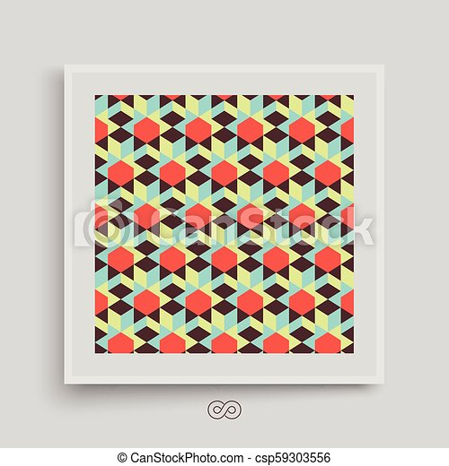 hexagonal lines pattern abstract 3d background textbook booklet