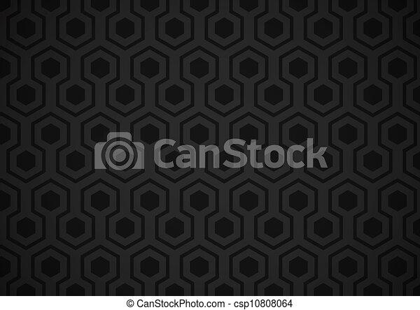 Hexagone, papier peint. Sombre, gray), très, papier peint ...