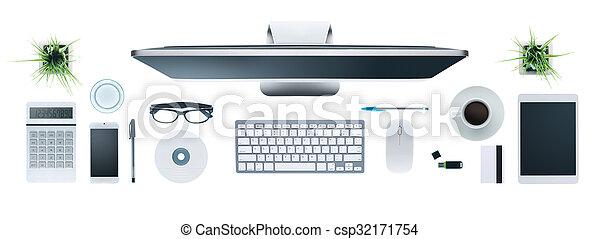 Hi-tech business desktop - csp32171754