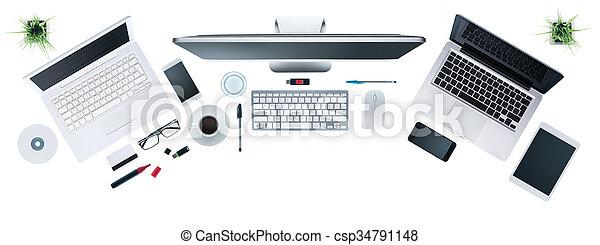 Hi-tech business desktop - csp34791148