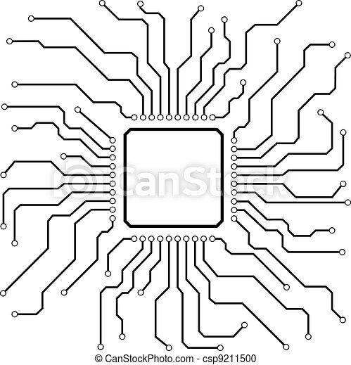 Illustration of a hi-tech circuit board vector clipart - Search ...