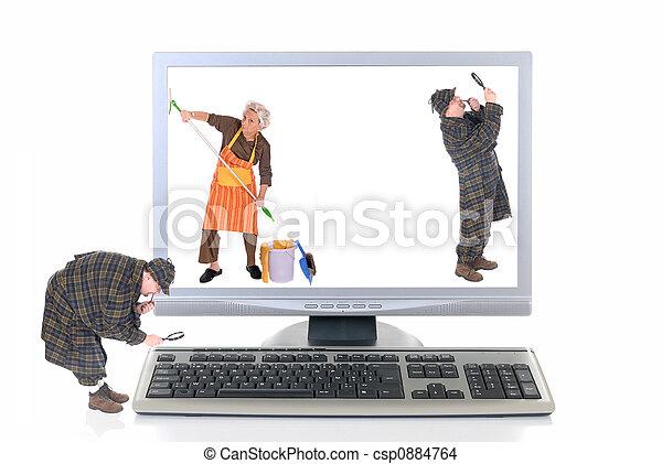 Hi tech computer, virus check - csp0884764