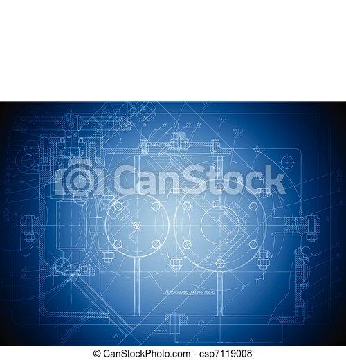 Hi-tech engineering drawing - csp7119008
