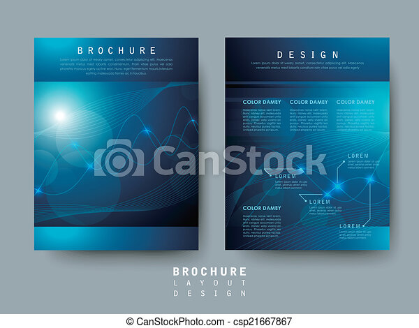 hi tech style flyer template for business advertising concept