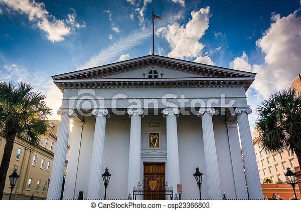Hibernian Hall in Charleston, South Carolina. - csp23366803