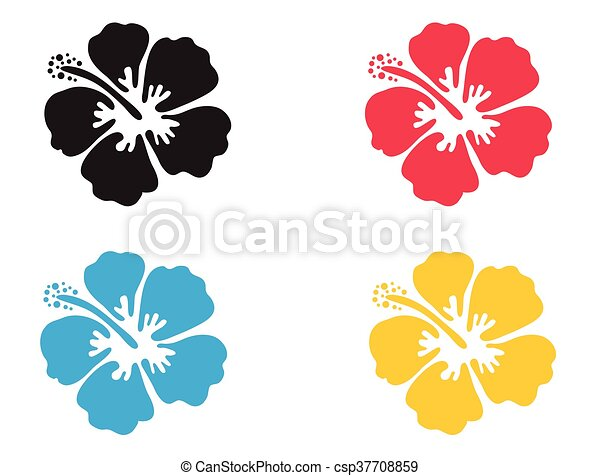 hibiscus flower vector illustration hibiscus icon in 4 clipart rh canstockphoto com hibiscus vector art hibiscus vectoriel free