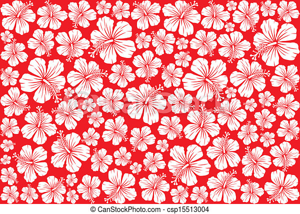 Seamless Floral Pattern Whit Hibiscus Hibiscus Pattern Seamless Gorgeous Hawaiian Pattern