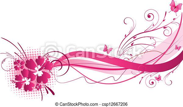 Hibiscus rose conception florals hibiscus rose - Dessin d hibiscus ...