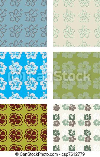 Hibiscus seamless pattern - csp7612779