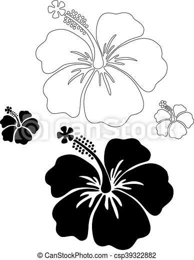 hibiscus vector silhouettes rh canstockphoto com hibiscus vector free hibiscus vector flower