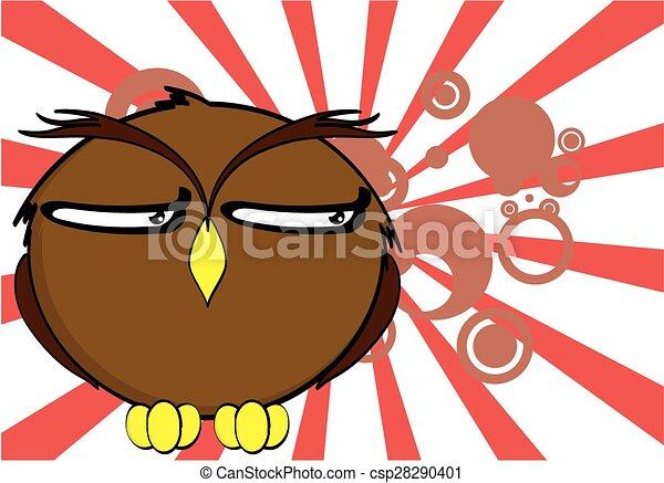 Hibou Expressions Background4 Dessin Anime Hibou Fond Format