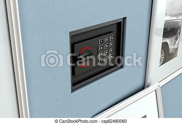 Hidden Closed Wall Safe Behind Picture A Closed Hidden Wall Safe