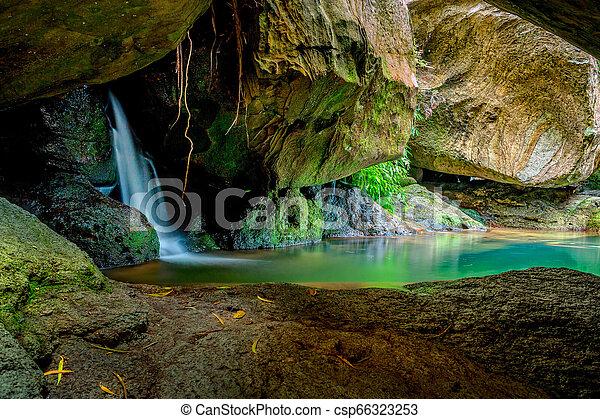 Hidden rock pool oasis Australia - csp66323253