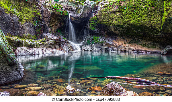 Hidden waterfall - csp47092883