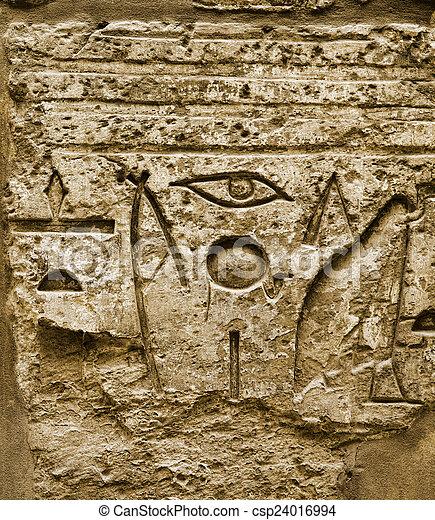 hieroglyphic, ファラオ, 文明, karnak - csp24016994