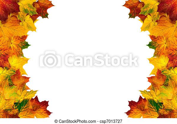 higgadt, ősz kilépő, határ, kerek - csp7013727
