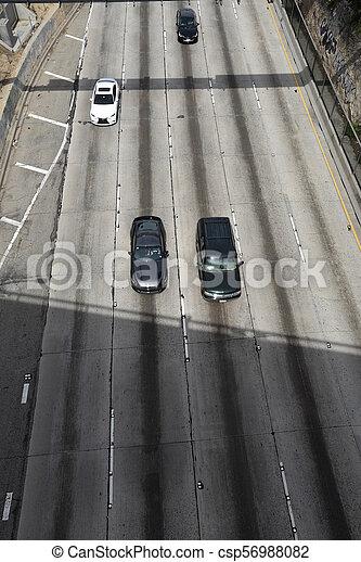 High angle freeway view - csp56988082