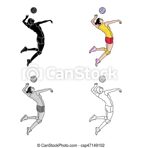 high athlete plays volleyball the player throws the ball in olympic rh canstockphoto com Horned Frogs Volleyball Dead Frogs Volleyball