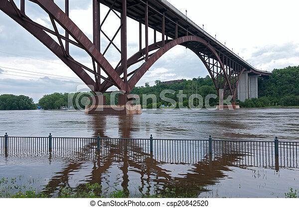 High Bridge and Mississippi River of Saint Paul - csp20842520