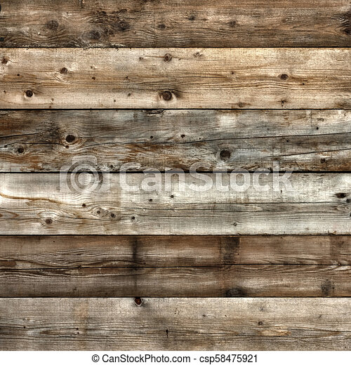 High contrast old natural pine wood background square - csp58475921